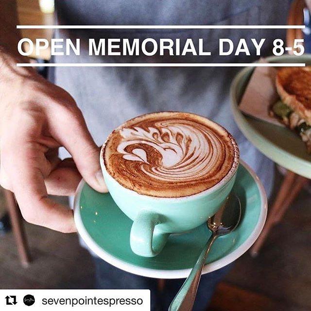 #memorialdayweekend2017 #brooklyn #Repost @sevenpointespresso ・・・ FYI - We are OPEN Memorial Day! #memorialdayweekend #open