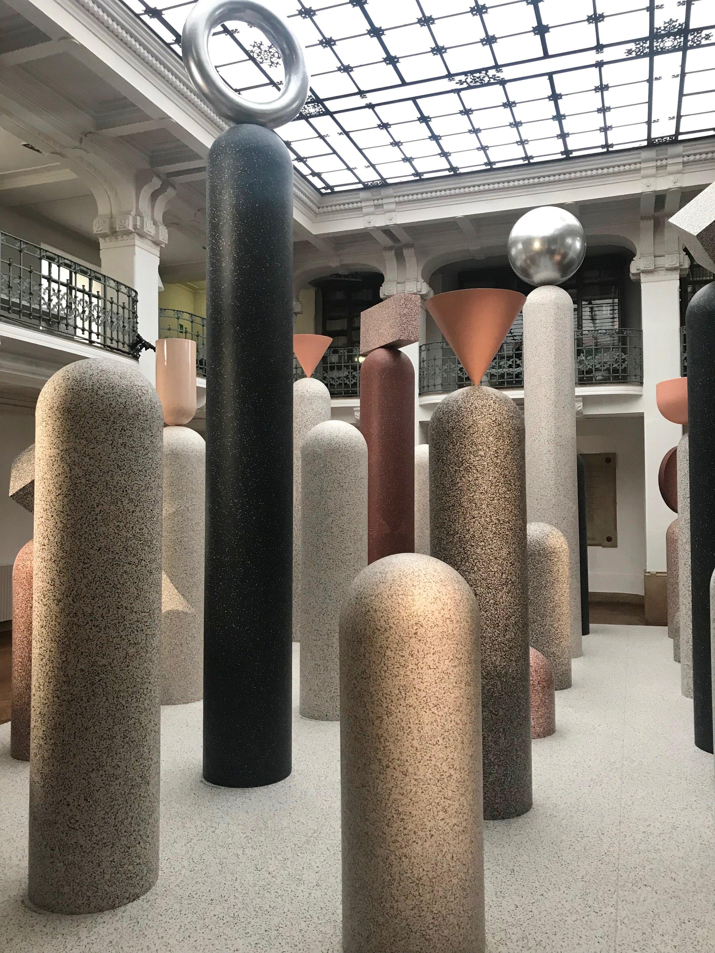 Curvaceous pillars at Tarkett