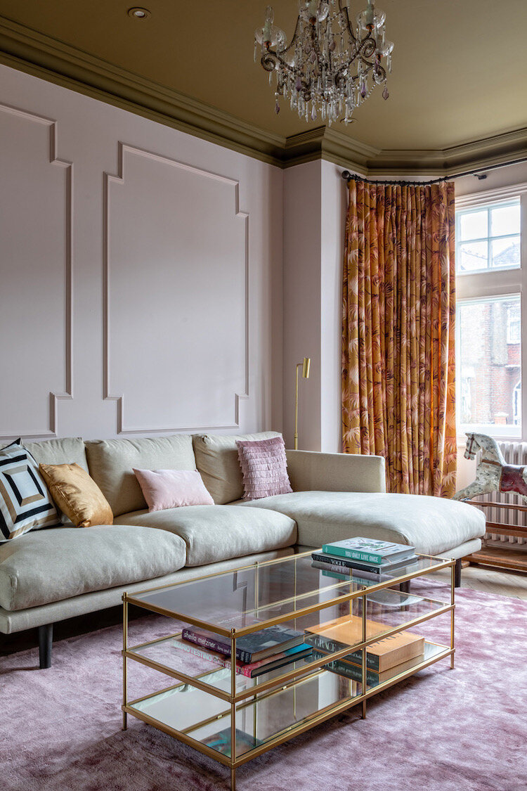 Heavy velvet drapes in the Victorian House Project