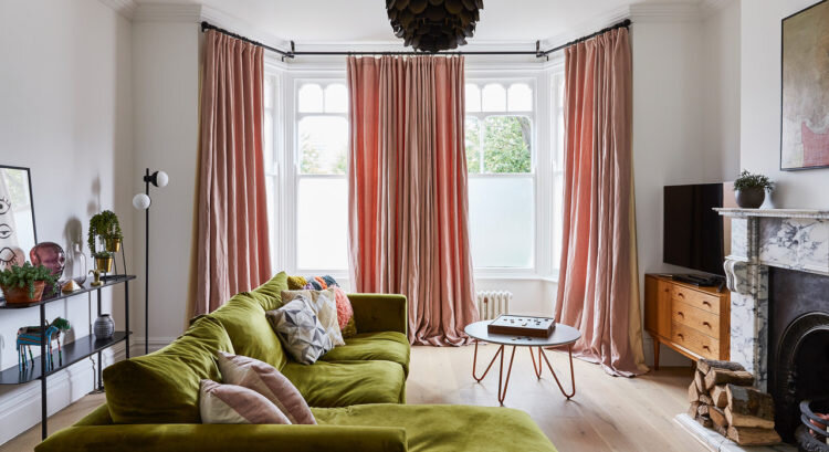 Long floaty Linen drapes from the House project