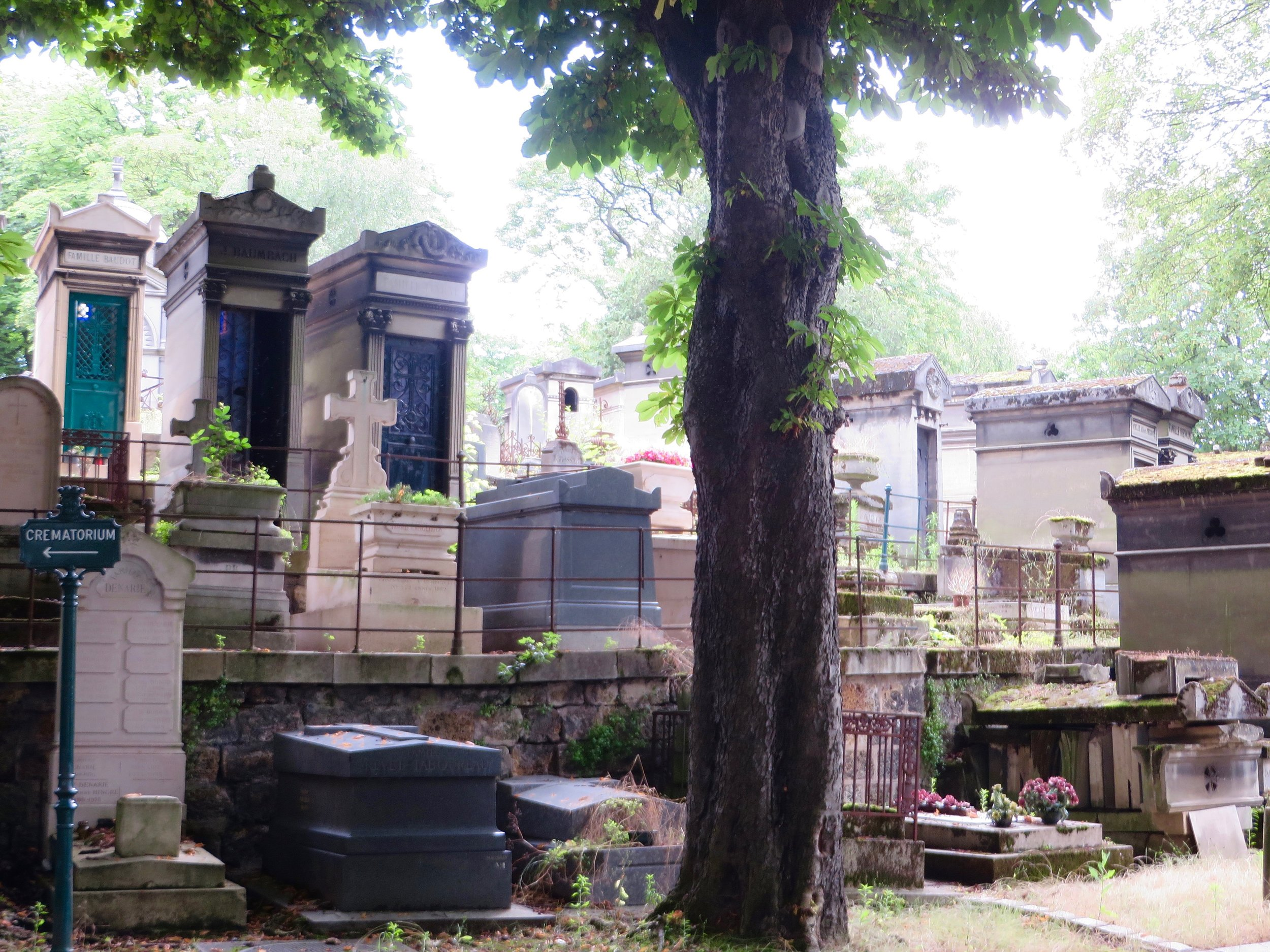 Past selves, future selves ... where are we going?  Photo by author;Père Llachaise Cemetery, Paris.
