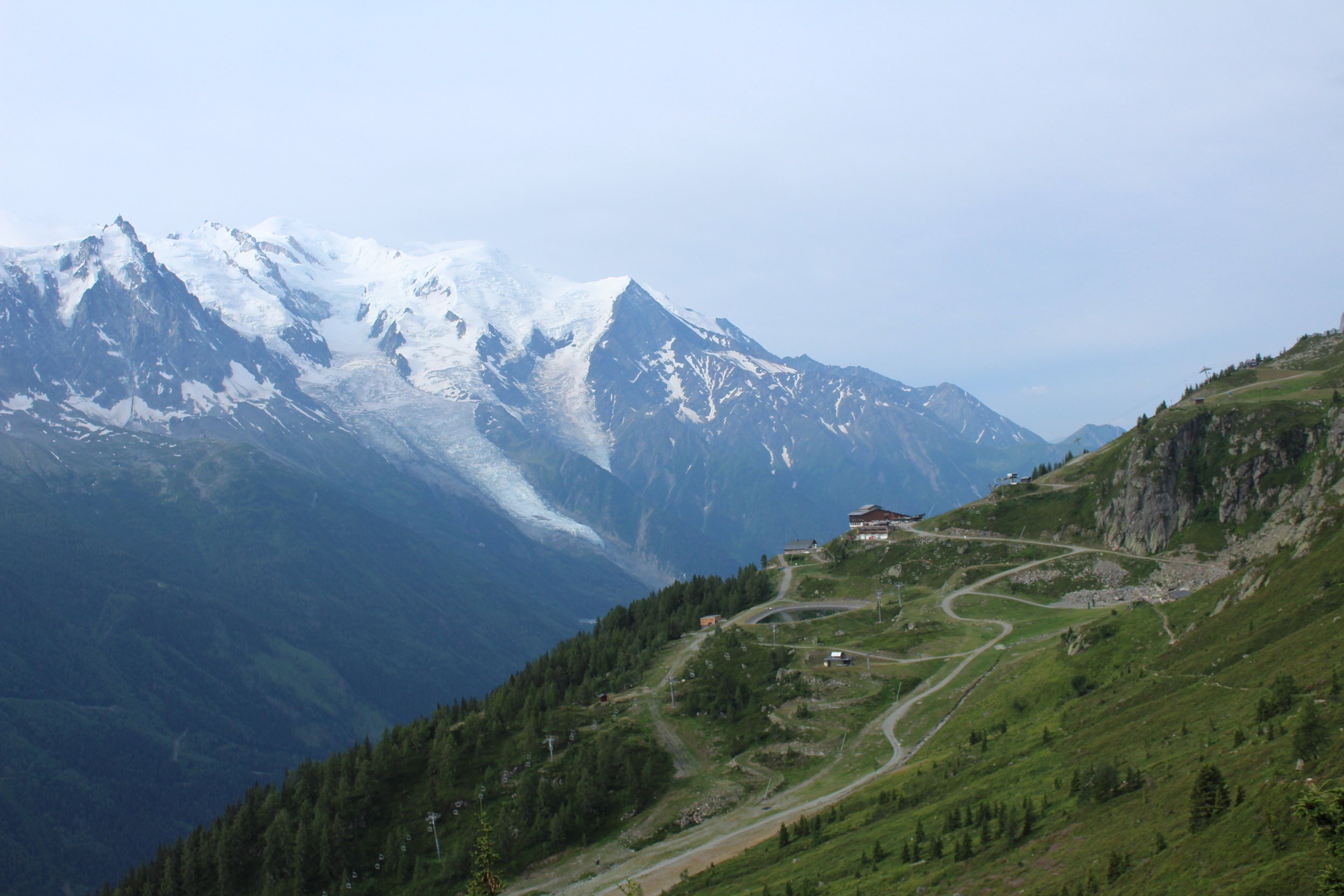 Its all about perspective. Image by Chris Maxwell, French Alps, overlooking Tres le Champs.
