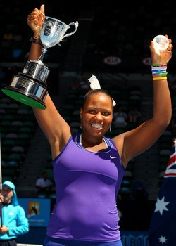 Townsend winning 2012 Australian Open girls' singles title. AP/ Shuji Kajiyama