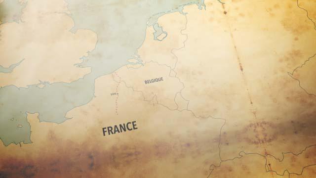 Historical map motion graphics design