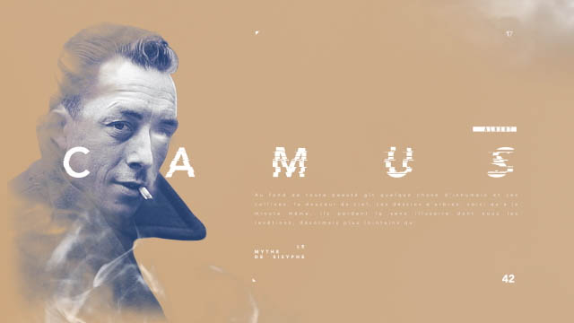 Gary - Camus 2d - 3d animation and typography