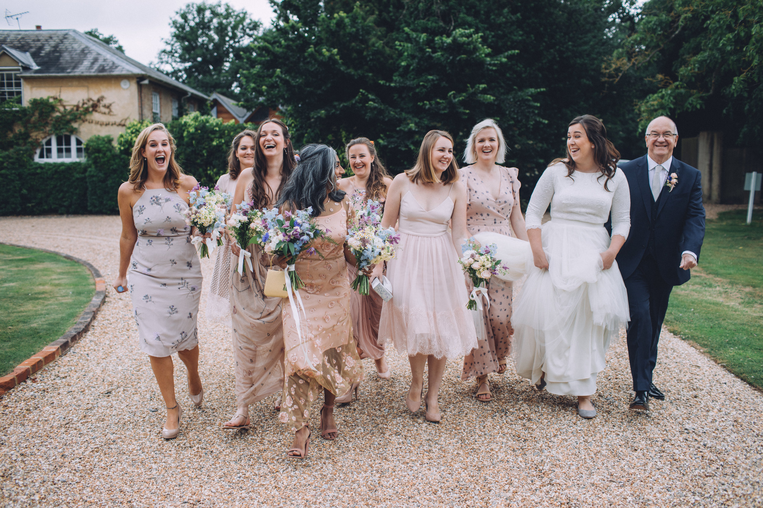 Bridal party and father of the bride
