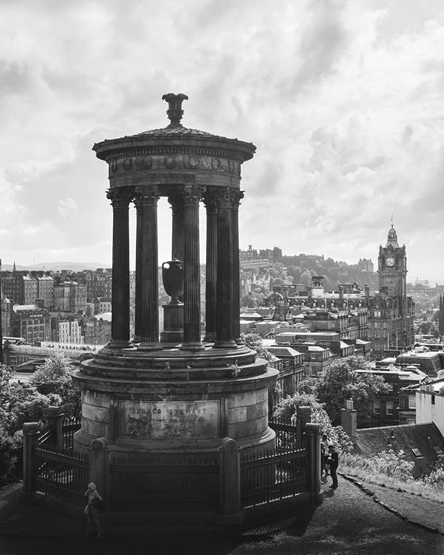 Calton Hill,  Edinburgh - August 2019  #b&w #blackandwhite #photography #edinburgh #edinburghcastle #edinburghfringe #scotland #travel #stewart #stewartmonument #city #cityscape #landscapephotography #omgb #britain #architecture #panasonic #lumix #lumixphotography #lumixg80