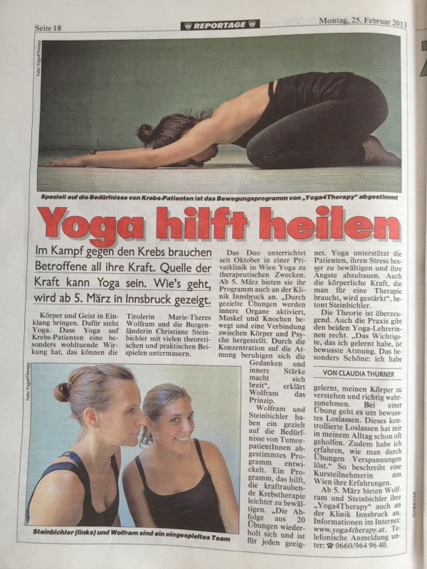 Reportage: Mit Yoga krebs behandeln