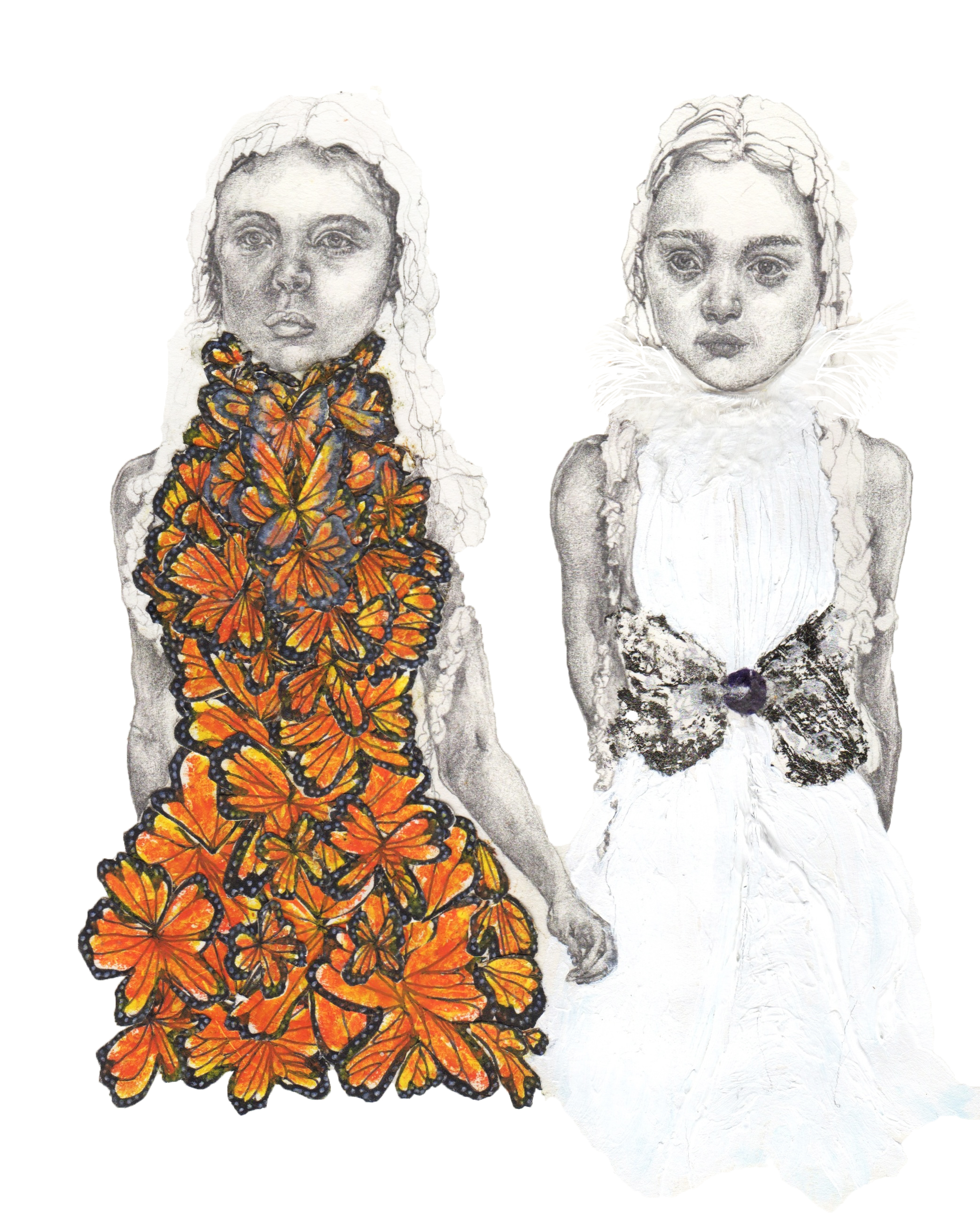 """Sister {McQueen SS01}"" - Pencil & axcrylic on heavyweight paper - 20 cm x 30 cm"