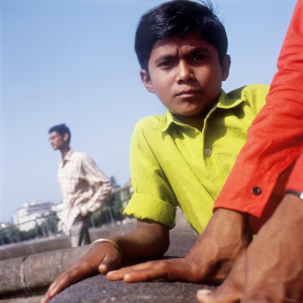 Portrait de Nagesh à la Gate of India (Bombay)