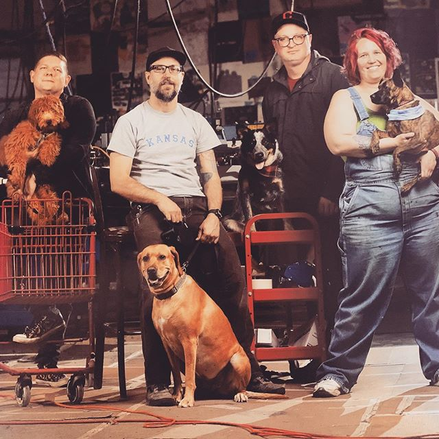 Lawrence magazine did a cover story on shop dogs and look who made the cut! Both #merchtable and #bluecollarpress k9 employees looking dapper. Getting them to pose was no easy task!