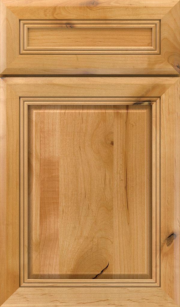 wood type: rustic alder    finish: natural