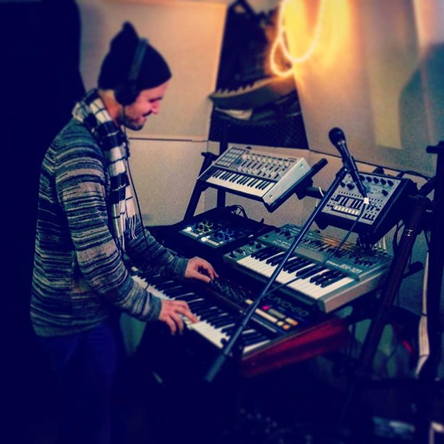Winter time is recording time, yeah! #parrottothemoon #recording #juno60