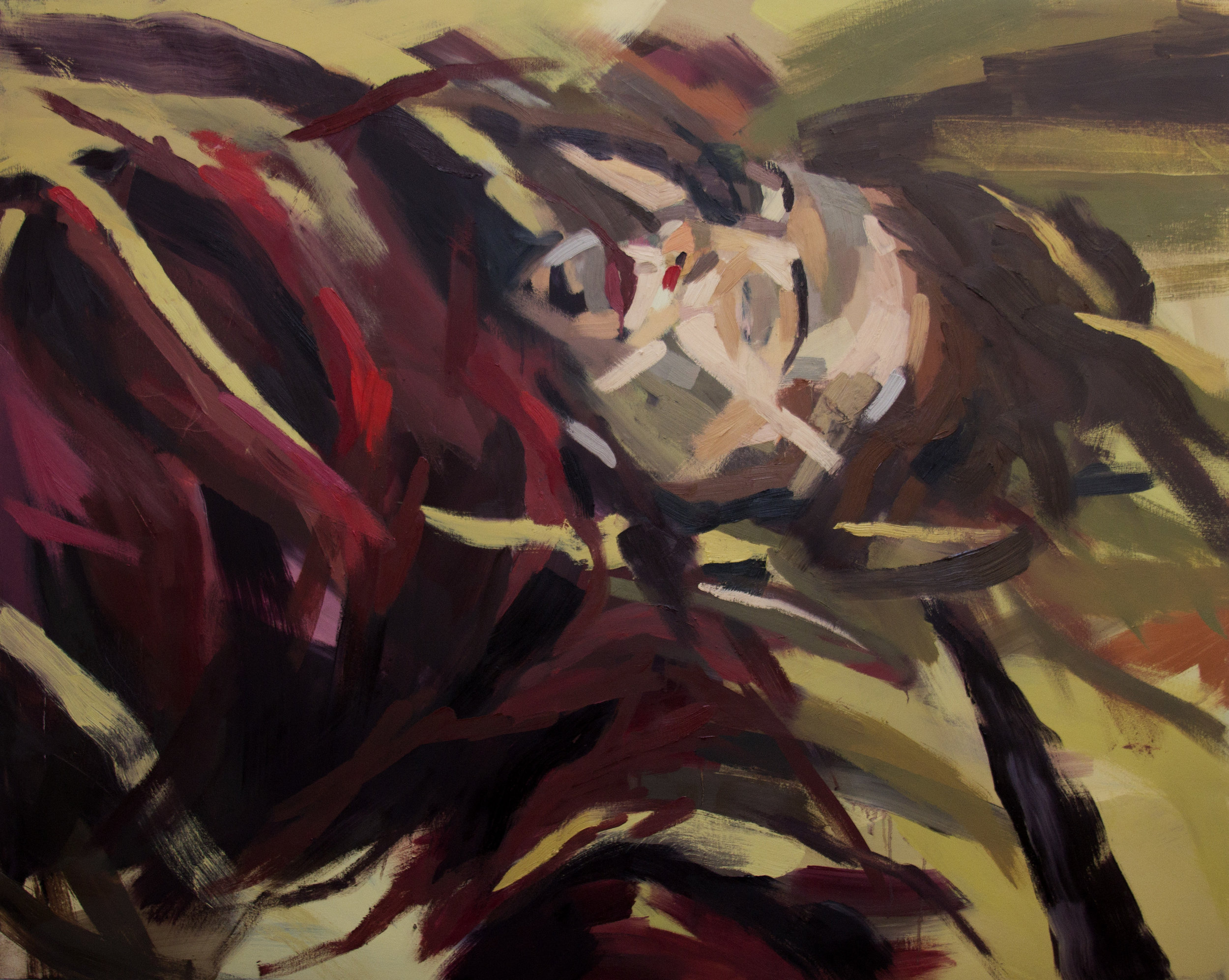 Thoughtless Sleep   5' x 4' , oil on canvas  2016, sold