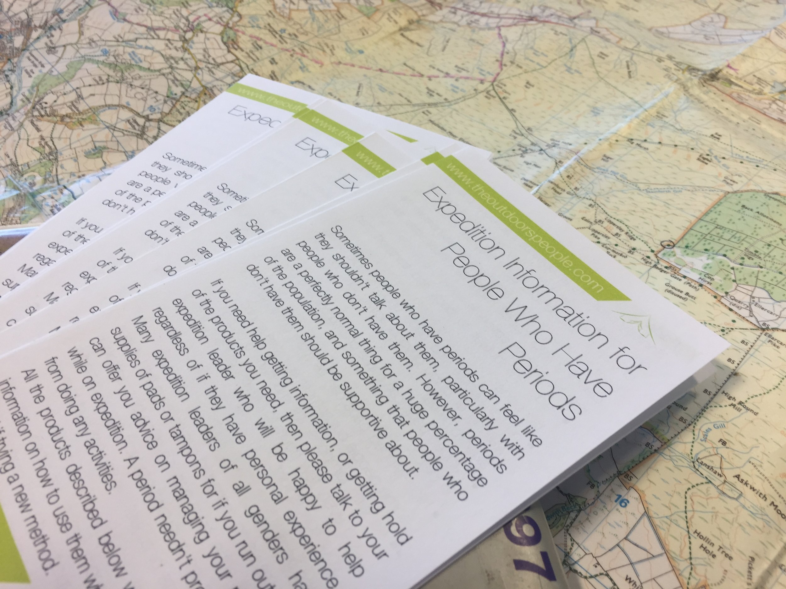 Expedition Information For People Who Have Periods