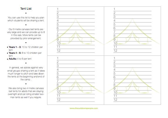 Tent List