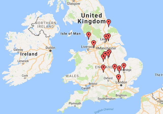 A selection of our camp locations