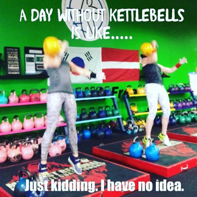 It's not a day until you've shown a bell who's boss!  #kettlebellworkout #workoutpartner #gymmotivation #kettlebellsport #kettlebellteam #kettlebelljerk #kettlebelljerk16kg
