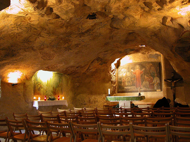 Garden of Gethsemane Cave.  Photo by Todd Bolen, BiblePlaces.com