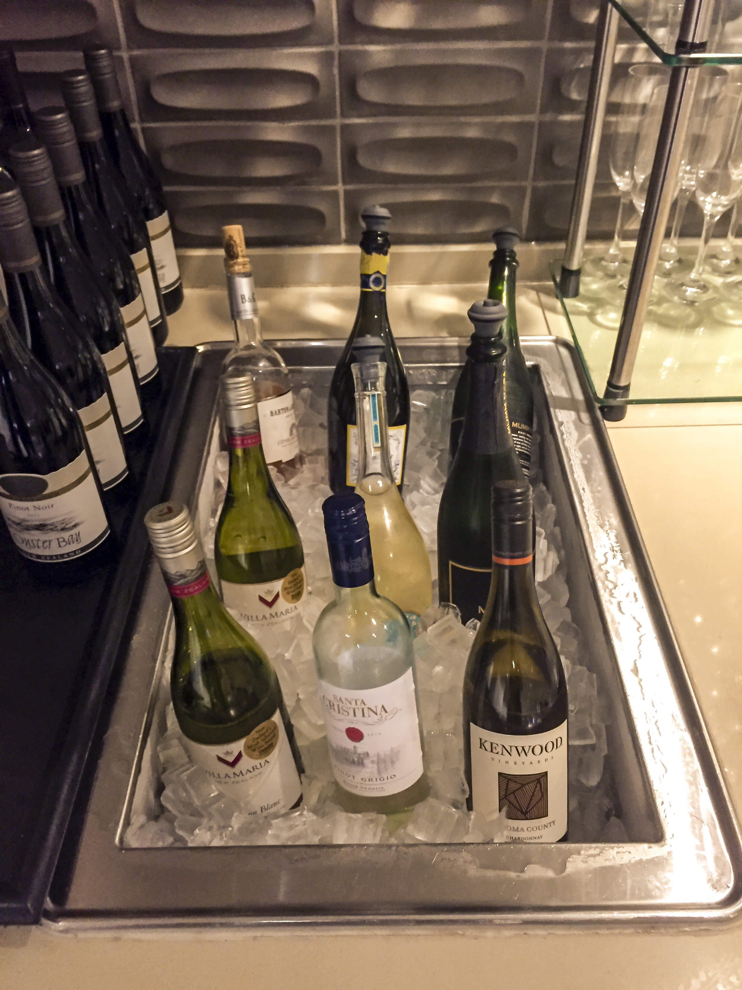 Part of the wine selection