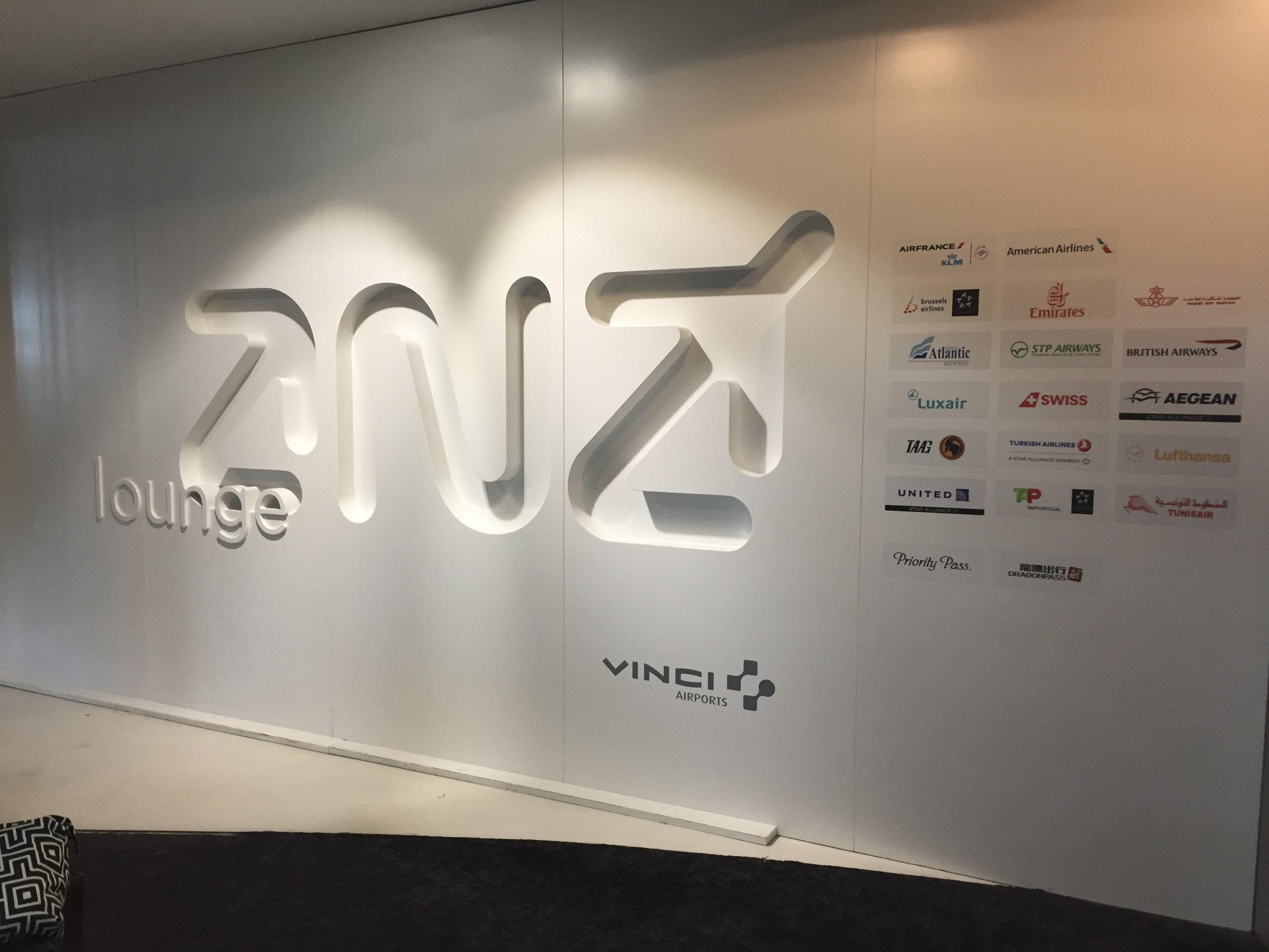 ANA Lounge Welcome