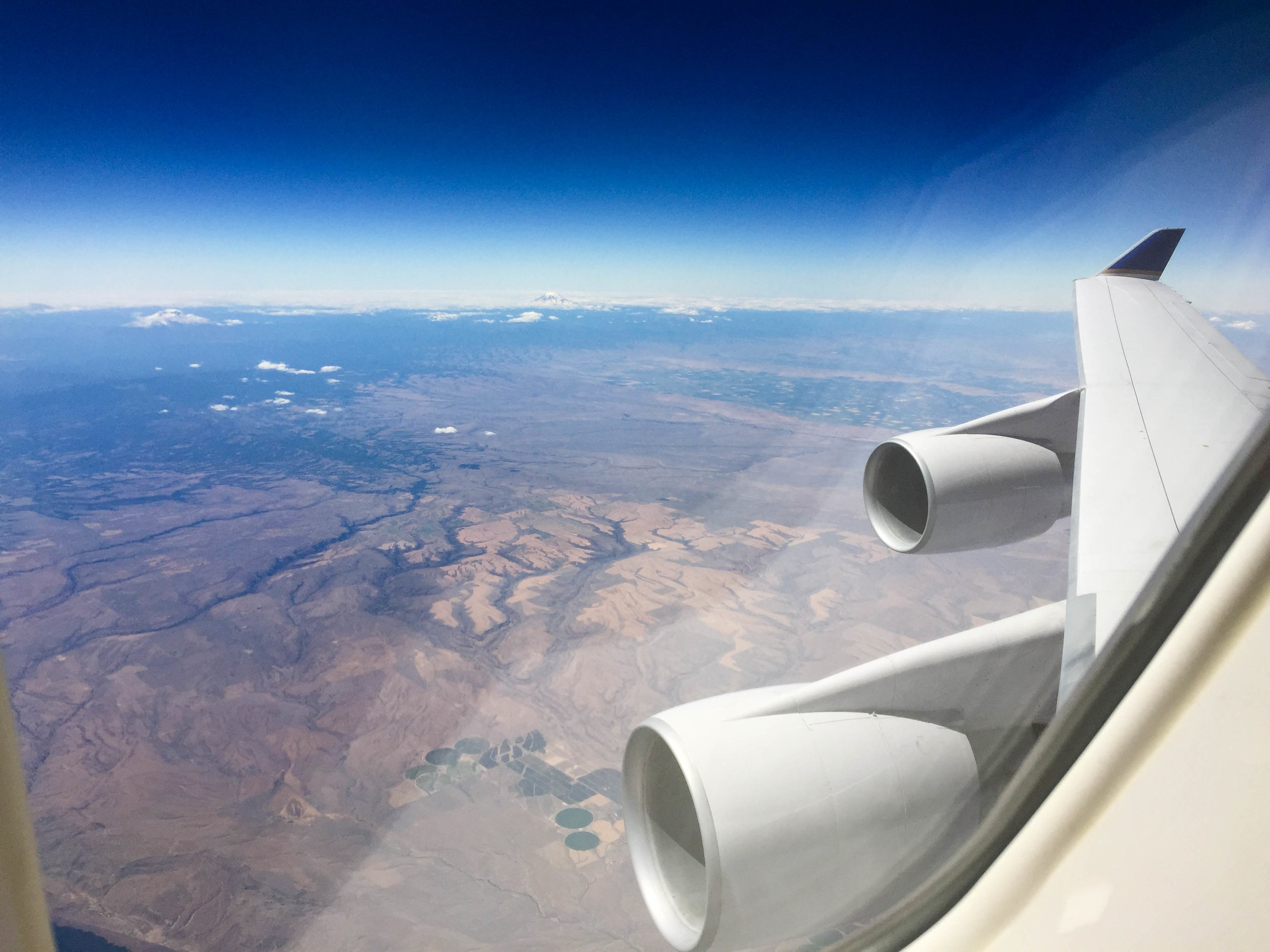 And finally, the view of those massive wings and engines somewhere over South Eastern Oregon!