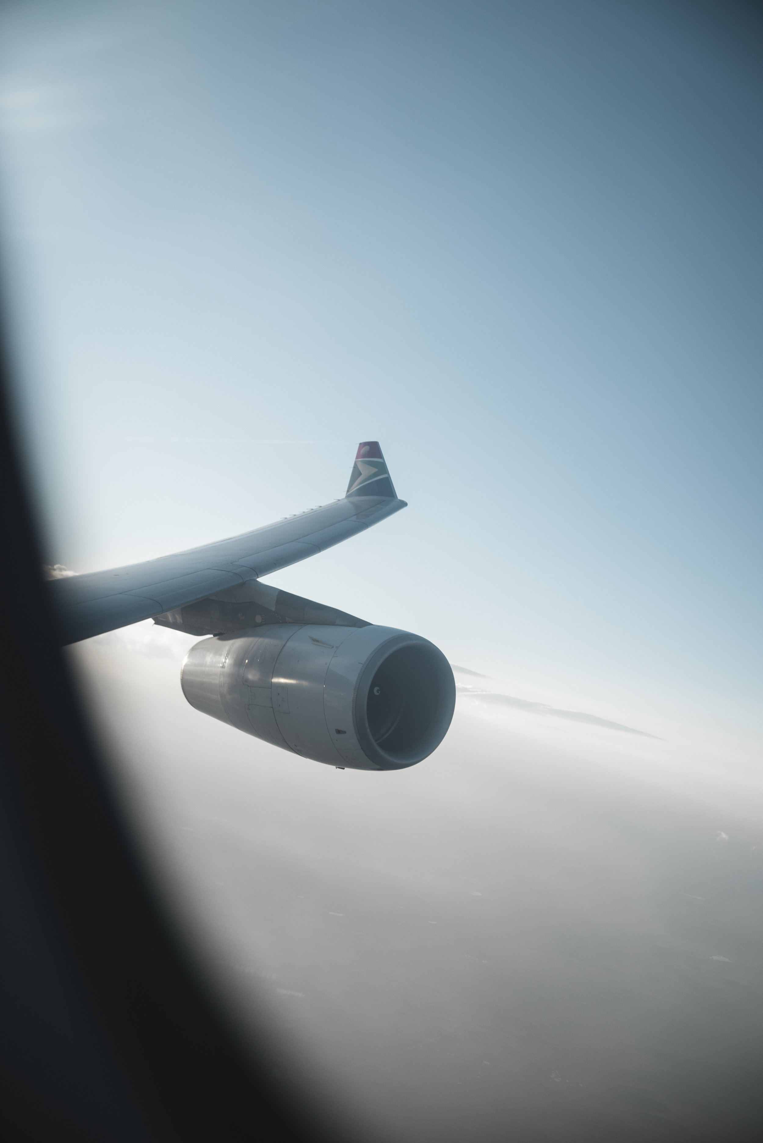 View from my seat shortly after take-off.