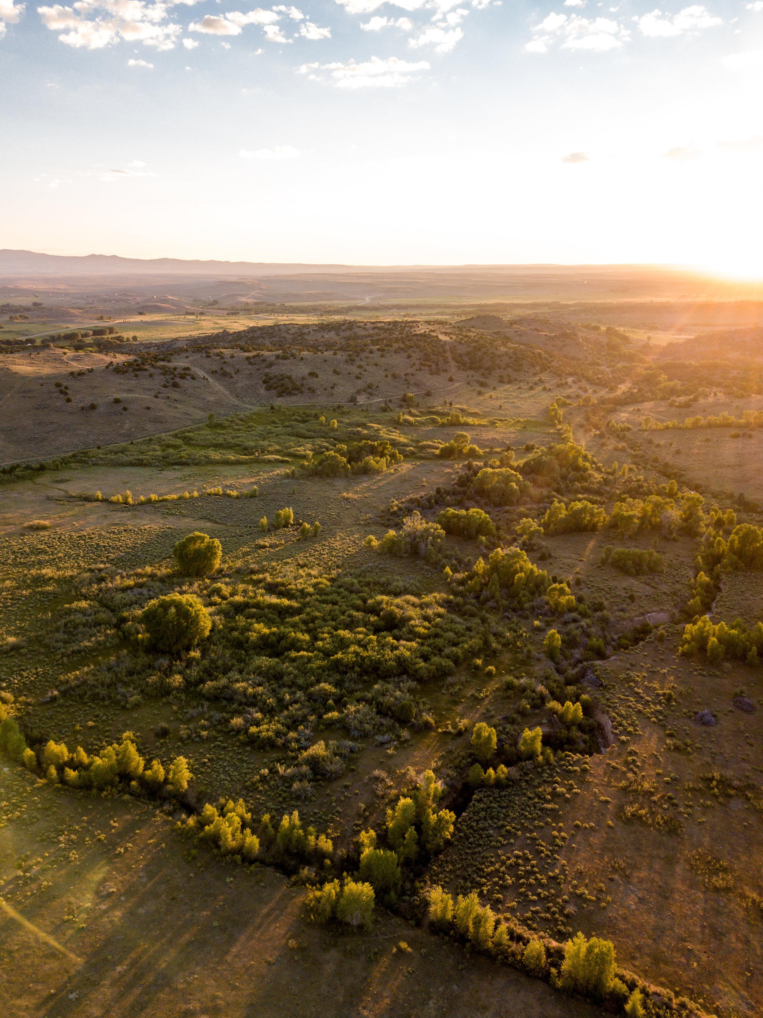 Brush Creek Ranch at Sunset
