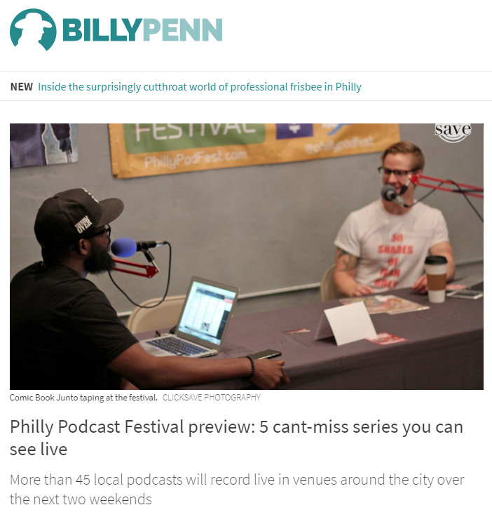 """Billy Penn  Mouthful LIVE is named one of Billy Penn's """"5 can't-miss"""" at the Fifth Annual Philadelphia Podcast Festival!   """"It starts with a monologue. Philadelphia youths pen each one, then actors perform them. Host Yvonne Latty, noted journalist and NYU professor, interviews the young writers on what inspired them, and speaks with experts who lend insights on the issues at play. Produced by Latty and the Philadelphia Young Playwrights,Mouthful hits on topics from virginity, grief, family illness and diversity. It's touching and, at times, gut-wrenching.""""     """"Philly Podcast Festival Preview""""   by Cassie Owens"""