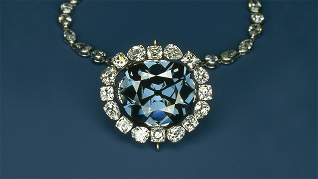 The Hope Diamond. {Image from GIA.edu}