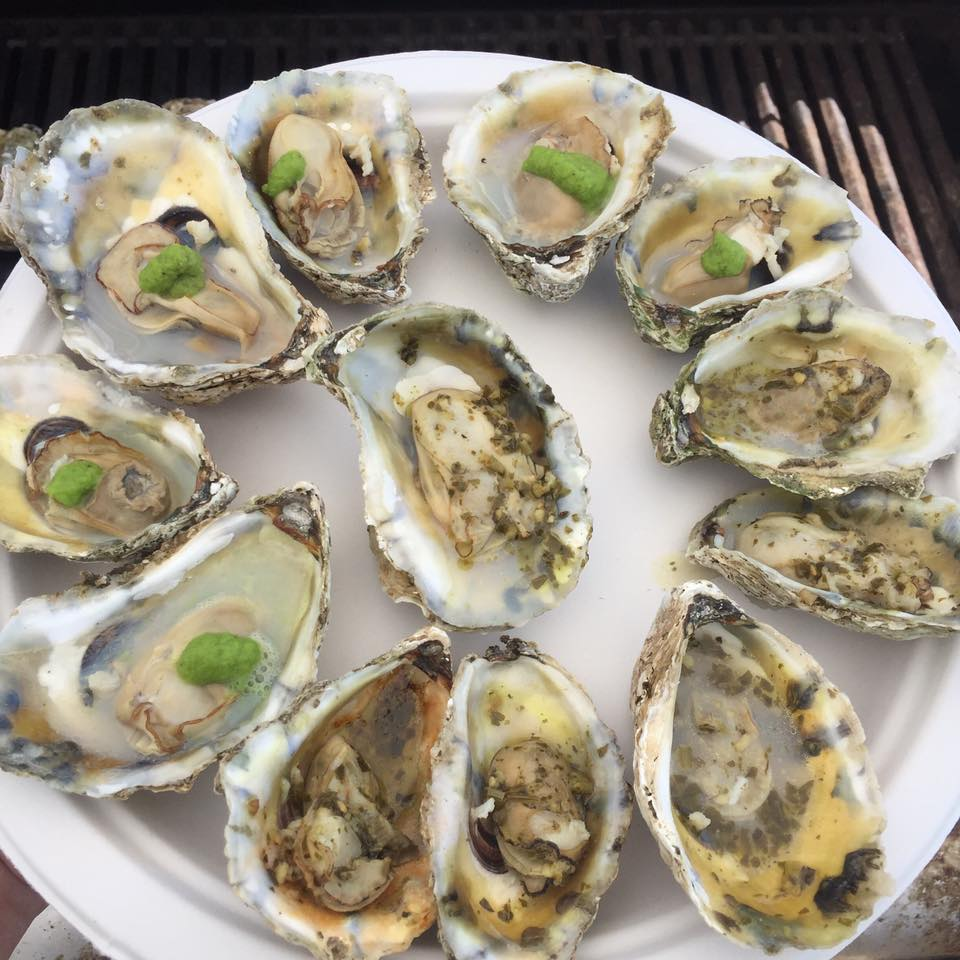 Oysters on the half shell by Byrd's Seafood in Irvington, VA.