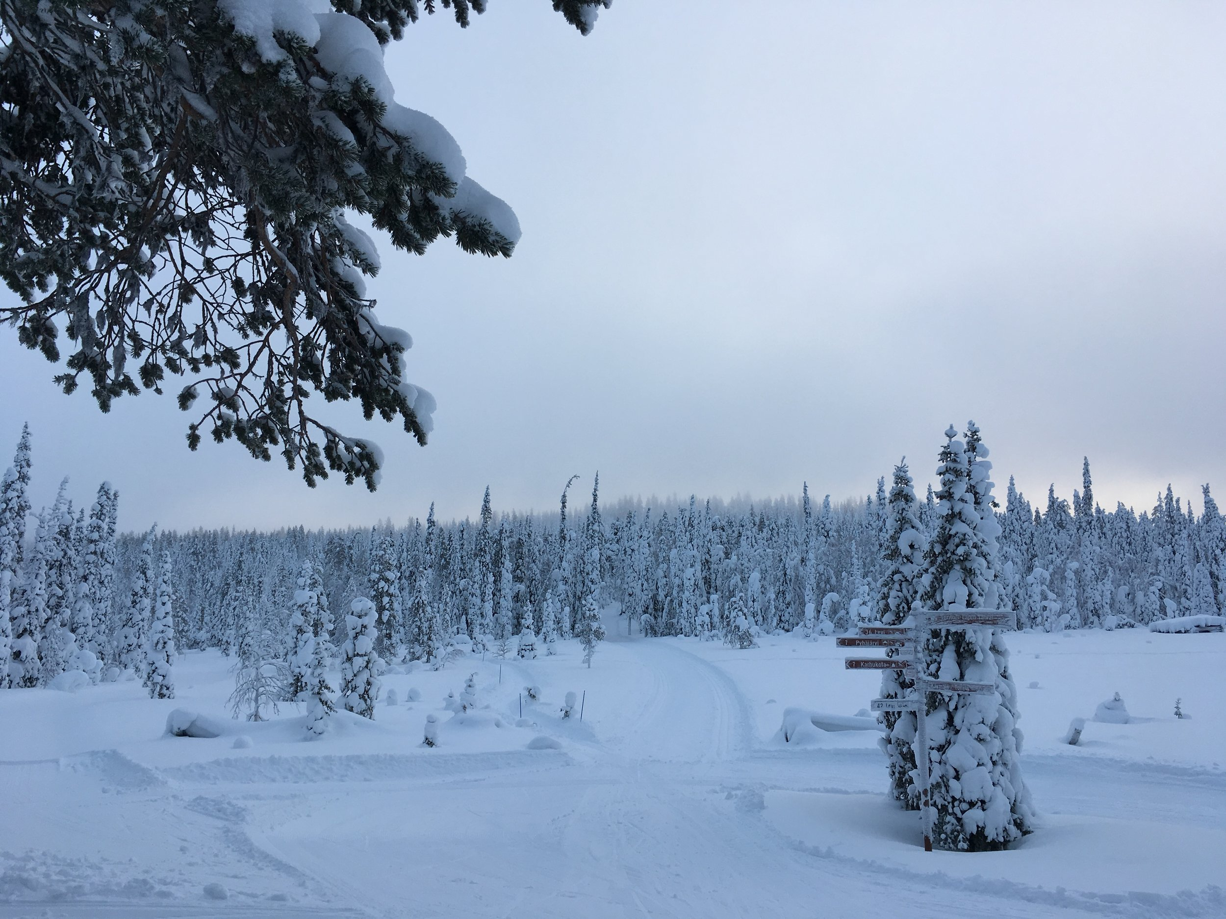 Where I would most like to find myself: Äkäslompolo, Finland