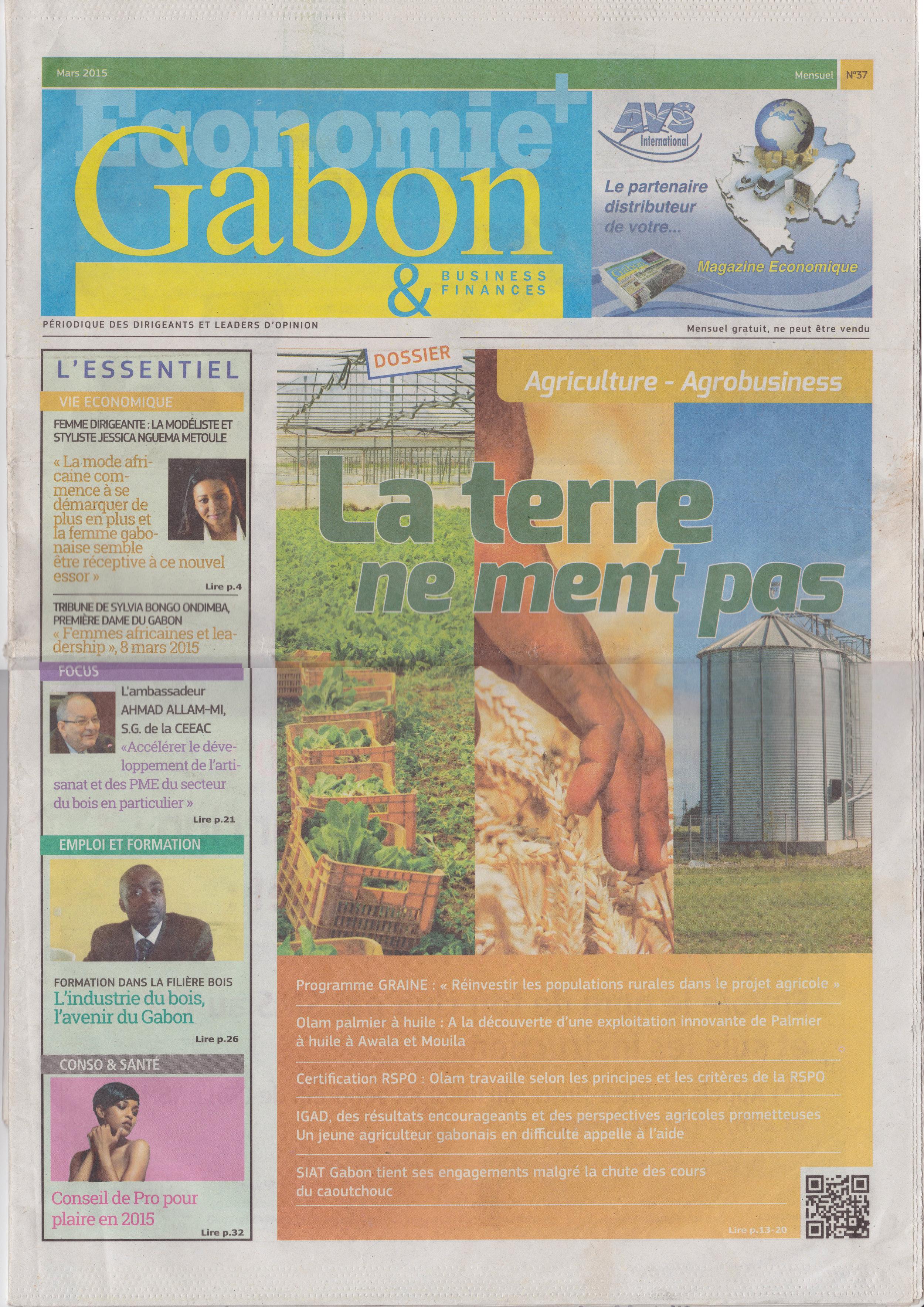 Economie + Gabon - Sept. 15