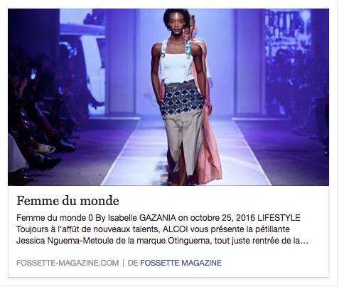 Fossette Magazine - Oct. 16