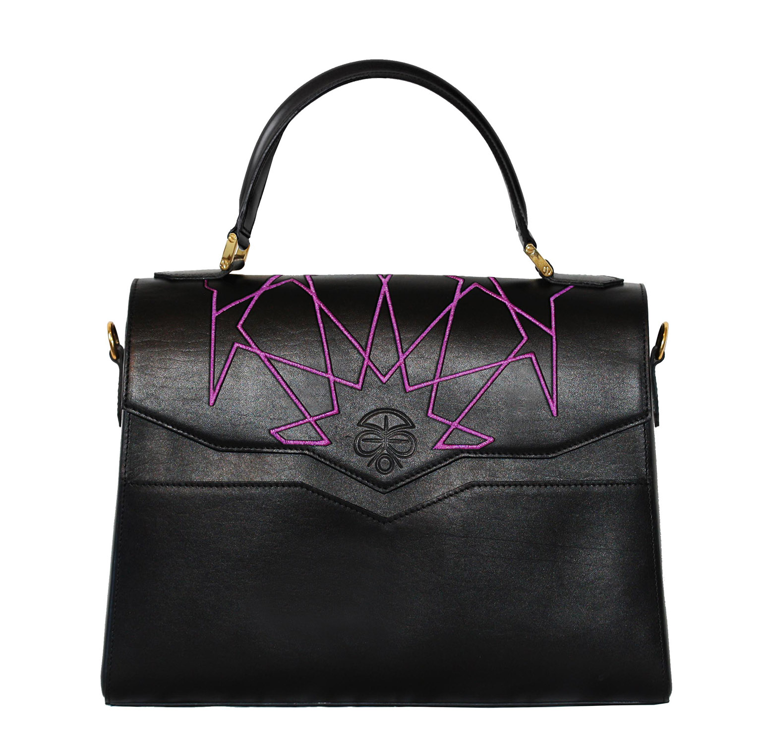BIANCAC   Purple embroidered