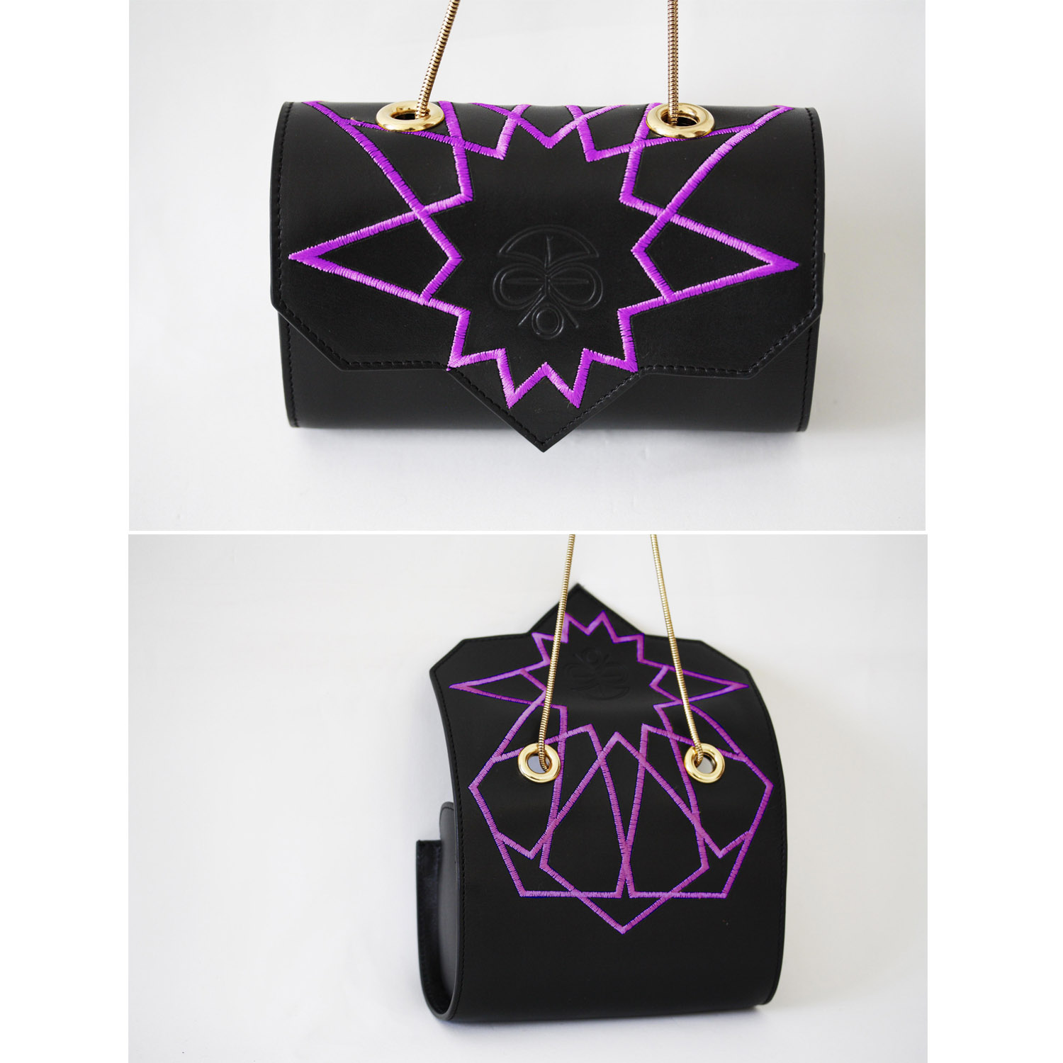 LOULOUC   Black with purple embroideries