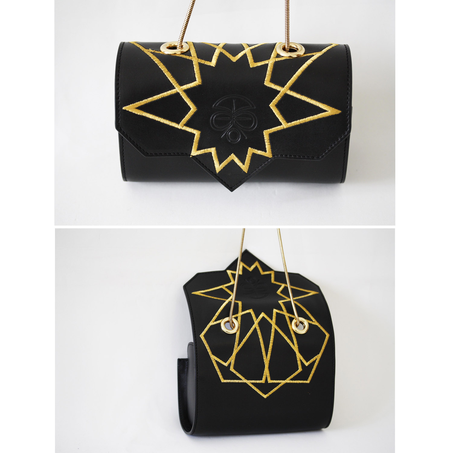 LOULOUD   Black with yellow embroideries