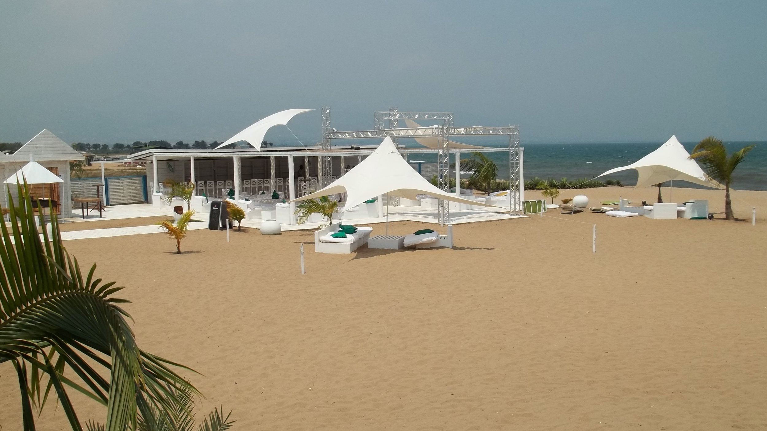A view of Lake Tanganyika from the resort