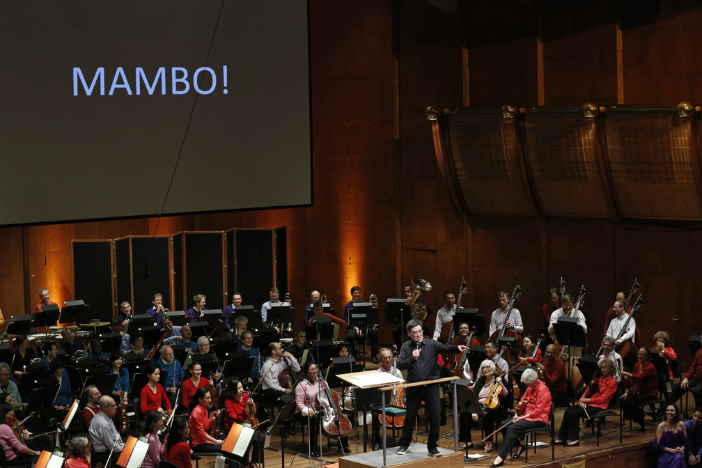 "Alan Gilbert led the 2015 Young People's Concert (YPC) ""Dance Transformed,"" which traced the evolution of the waltz through music by J. Strauss II, R. Strauss, Ravel, Oscar Lorenzo Fernandez, and Bernstein ( Mambo  from Bernstein's Symphonic Dances   from  West Side Story,  as pictured).   It marked Alan Gilbert's first time conducting a YPC in New York."