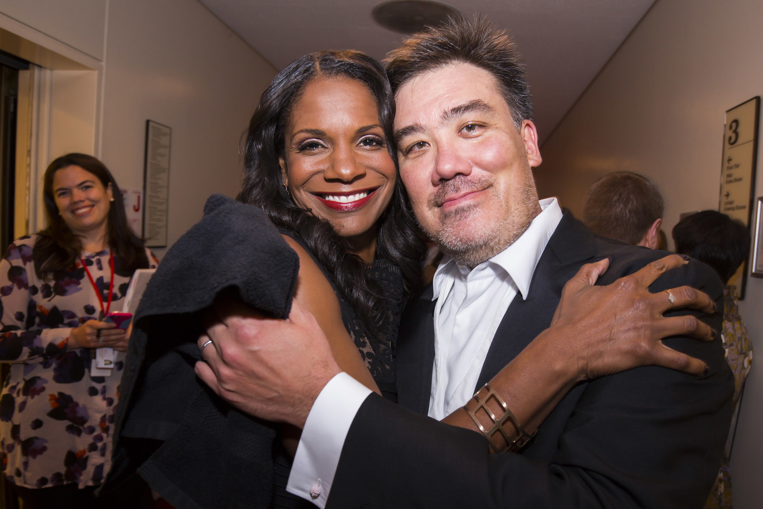 Audra McDonald sang Duke Ellington with Alan Gilbert and the Philharmonic at Carnegie Hall's 120th Anniversary Gala in 2011. In 2014 she appeared as the Beggar Woman in Stephen Sondheim and Hugh Wheeler's  Sweeney Todd: The Demon Barber of Fleet Street,  with Gilbert on the podium. She also has frequently been an off-stage partner as host of the Orchestra's appearances on  Live From Lincoln Center  national telecasts.