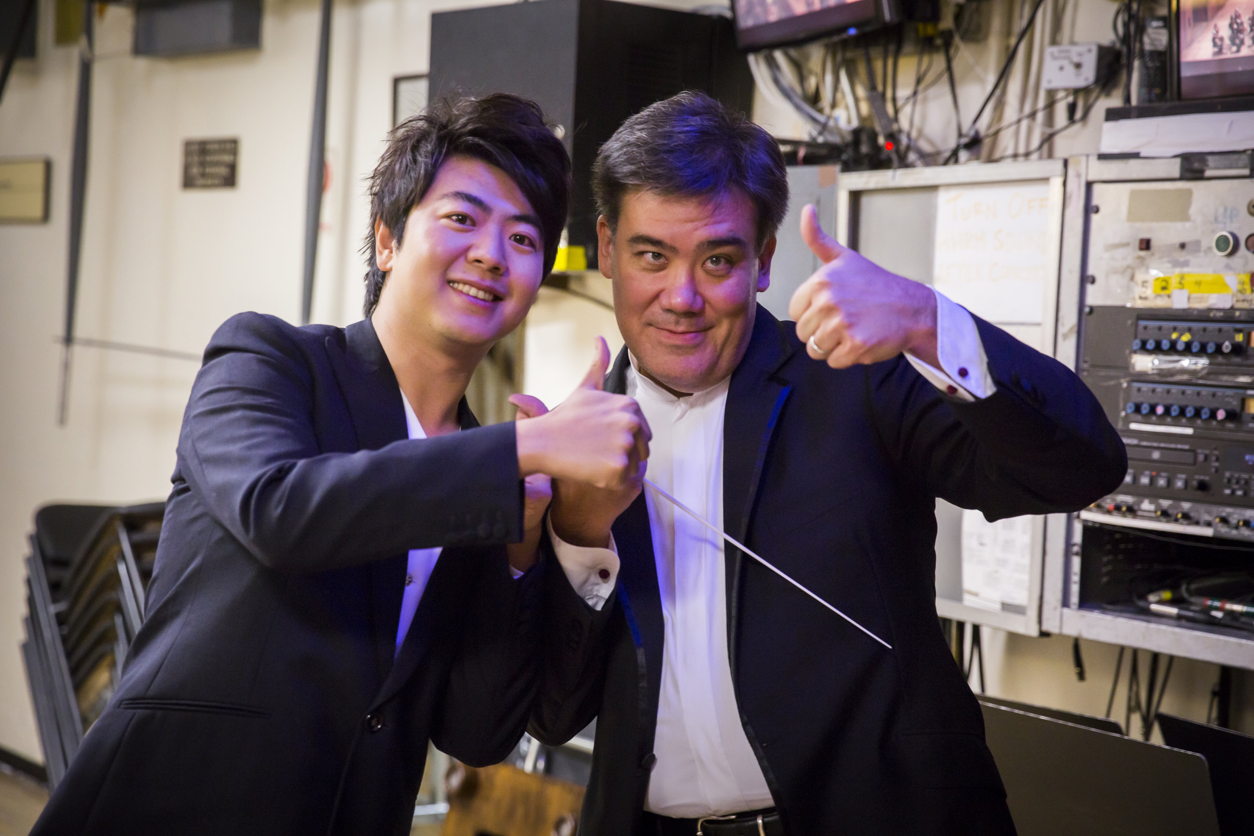 Years ago Alan Gilbert conducted Lang Lang's first engagement with an American orchestra, when the pianist was 14. At the Philharmonic, their collaborations included the 2010 New Year's Eve concert, telecast on  Live From Lincoln Center,  the 2015–16 season Opening Gala Concert, and two tours, among other performances.
