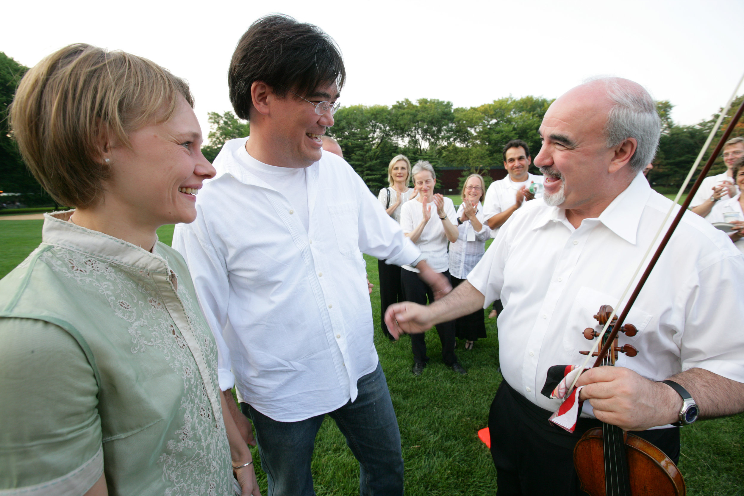 Alan Gilbert loves the Concerts in the Parks, so it was most appropriate that on the eve of the press conference announcing his appointment as Music Director, the New York Philharmonic musicians learned the news backstage just before a 2007 performance in Central Park.