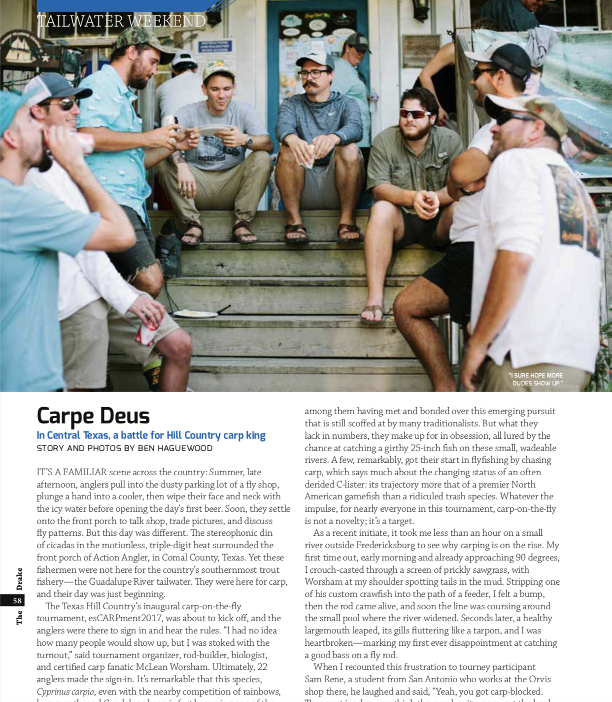 A great recap of the inaugural year of esCARPment can be found in Summer 2018 edition of the Drake (credit Ben and Ashley Haguewood).