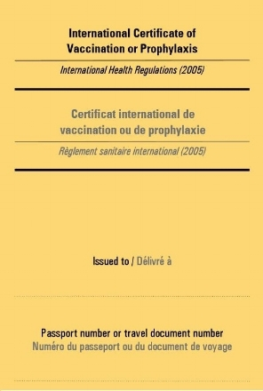 International Certificate of Vaccination or Prophylaxis (ICVP)