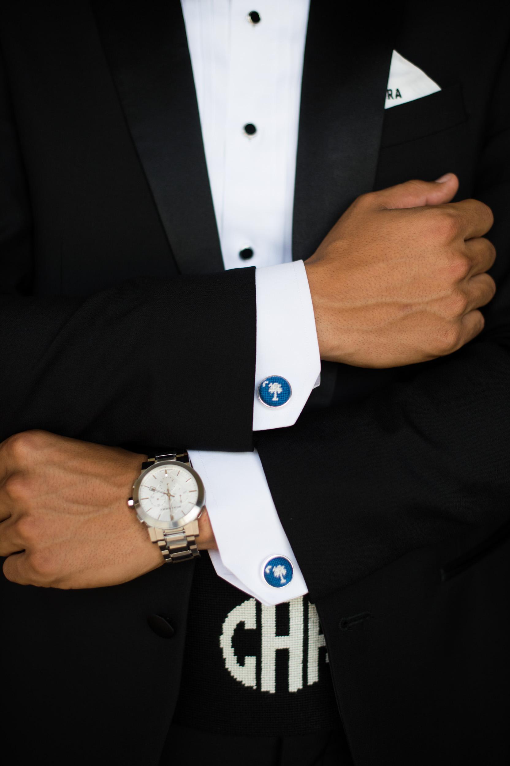 groom's kiawah island wedding cufflinks