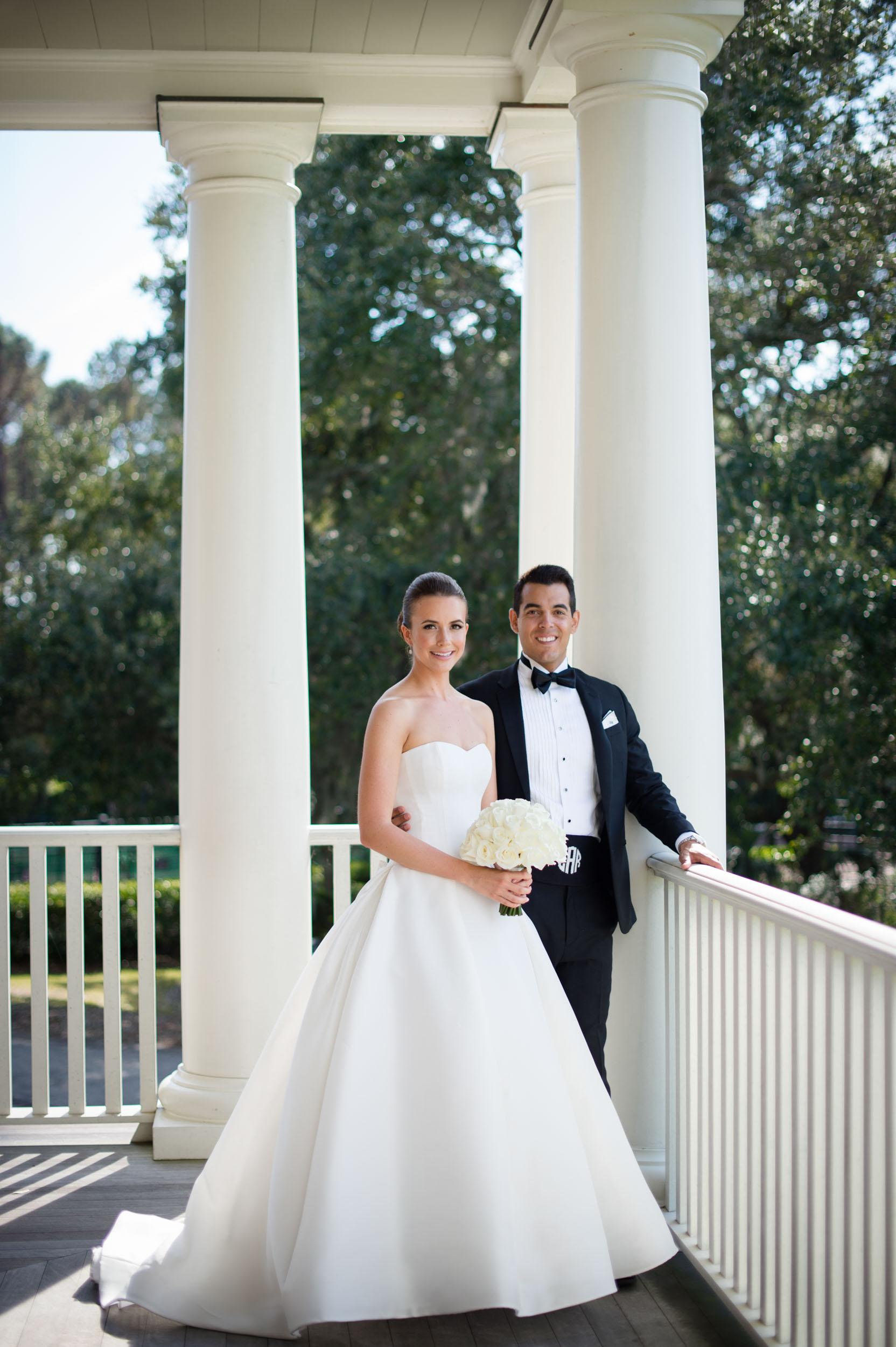 wedding portrait at kiawah island golf club