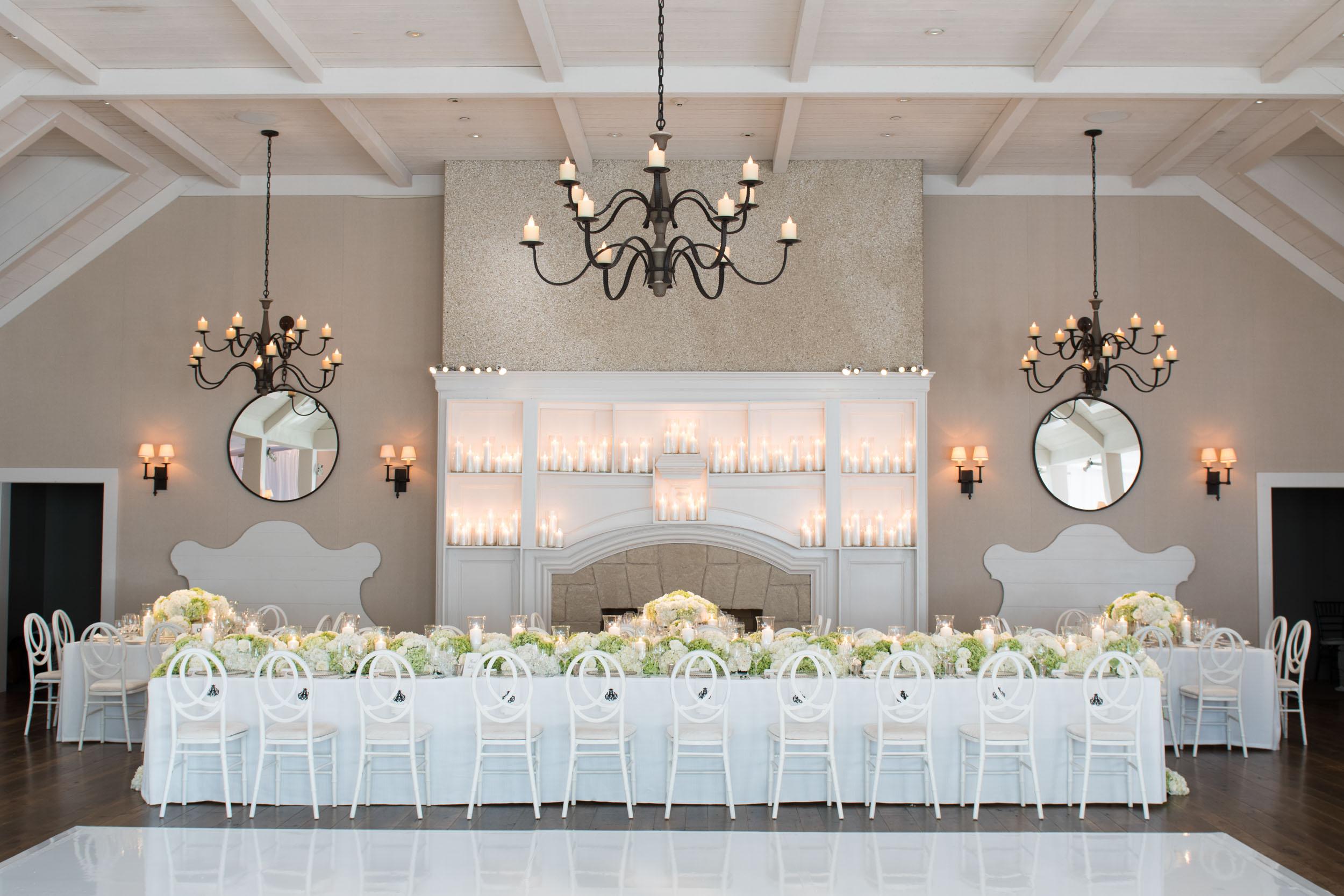 Wedding reception decor at Kiawah Island River Course