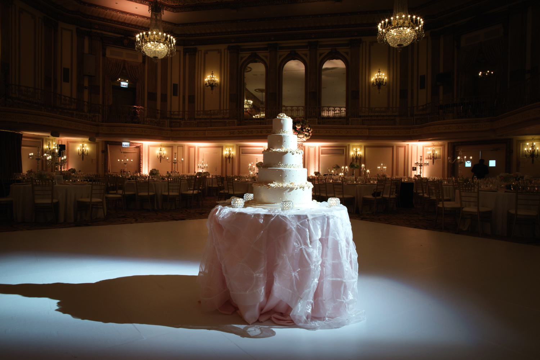Wedding reception at Palmer House Chicago