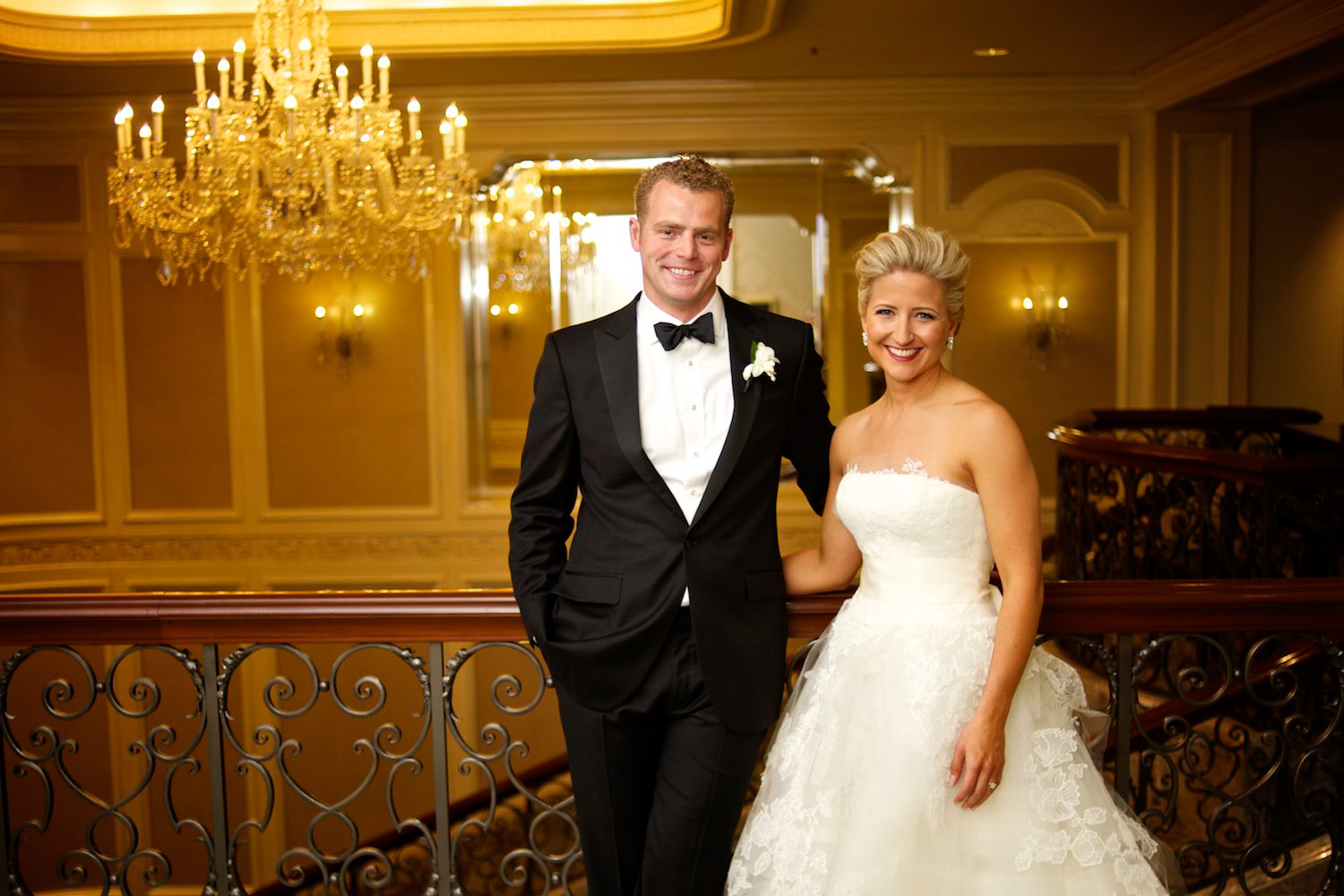 Portrait of bride and groom at Four Seasons Chicago