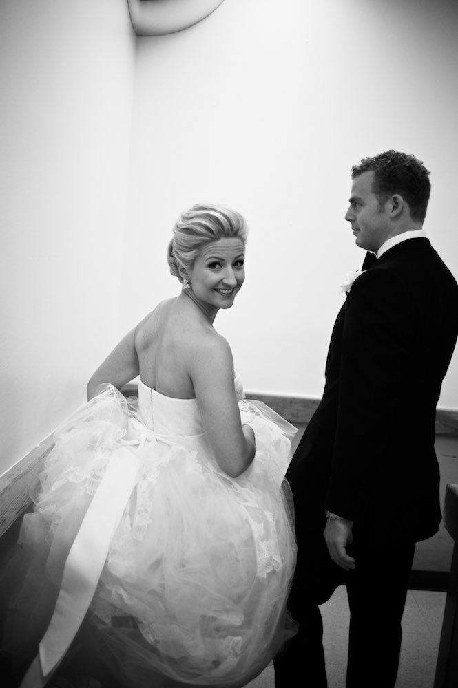 Bride and groom at Four Seasons Chicago